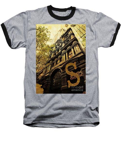 Grungy Melbourne Australia Alphabet Series Letter S Collins Stre Baseball T-Shirt