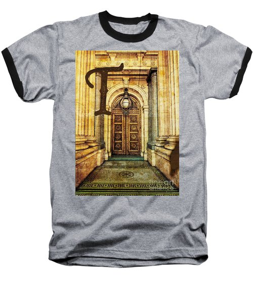 Grungy Melbourne Australia Alphabet Series Letter T Old Treasury Baseball T-Shirt