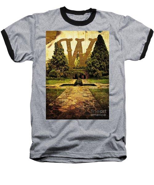 Grungy Melbourne Australia Alphabet Series Letter W Pioneer Wome Baseball T-Shirt