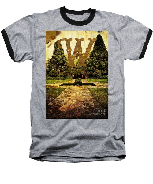 Grungy Melbourne Australia Alphabet Series Letter W Pioneer Wome Baseball T-Shirt