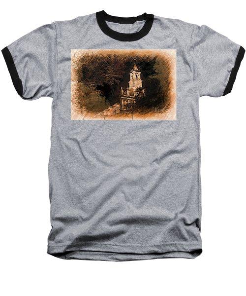 Grungy Todos Santos Baseball T-Shirt by Al Bourassa