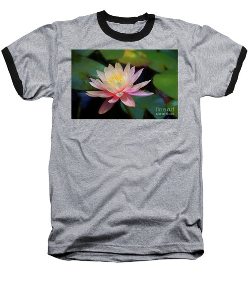 Grutas Water Lilly Baseball T-Shirt by John Kolenberg