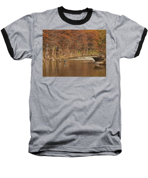 Guadalupe River Fly Fishing Baseball T-Shirt