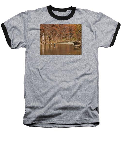 Guadalupe River Fly Fishing Baseball T-Shirt