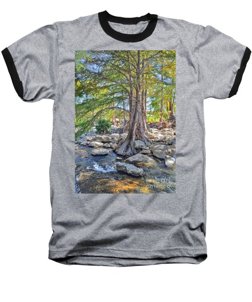 Guadalupe River Baseball T-Shirt by Savannah Gibbs