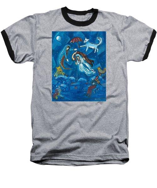 Guadalupe Visits Chagall Baseball T-Shirt by James Roderick