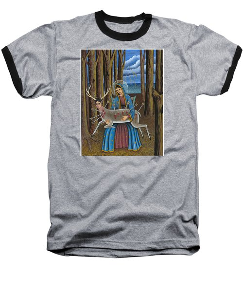 Guadalupe Visits Frida Kahlo Baseball T-Shirt
