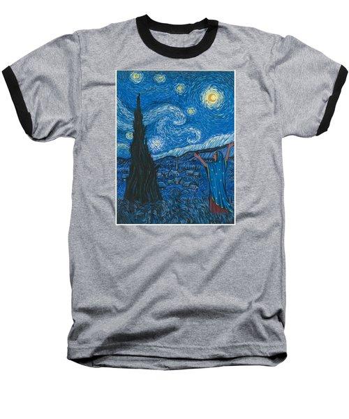 Guadalupe Visits Van Gogh Baseball T-Shirt by James Roderick