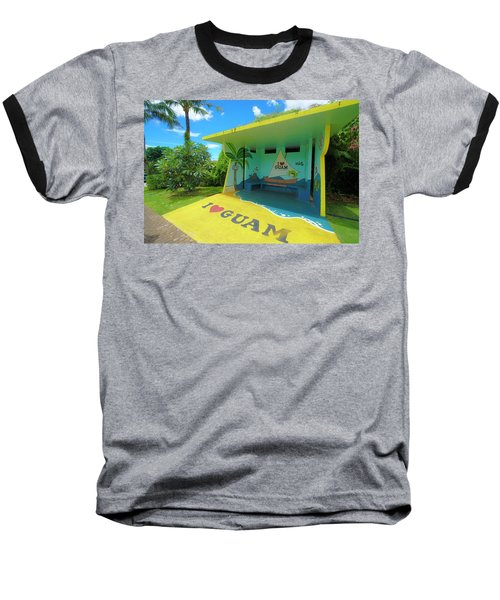 Guam Bus Stop Baseball T-Shirt