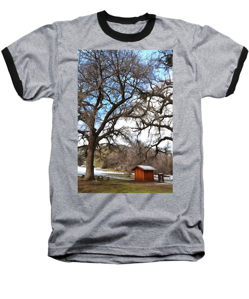 Baseball T-Shirt featuring the photograph Guard Shack At Fort Tejon Lebec California by Floyd Snyder