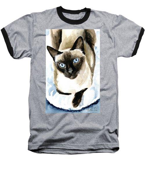Guardian Angel - Siamese Cat Portrait Baseball T-Shirt