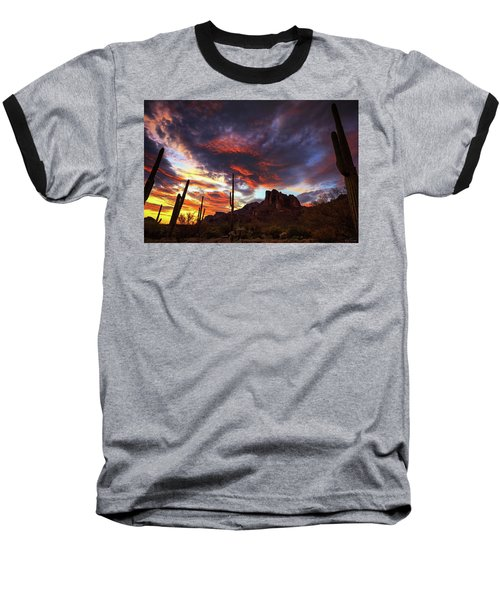 Guardians Of The Mountain Baseball T-Shirt by Rick Furmanek