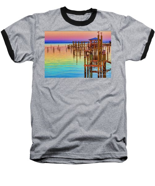 Guarding The Dock Baseball T-Shirt