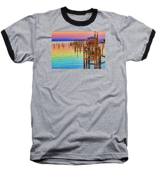 Guarding The Dock Baseball T-Shirt by Roberta Byram
