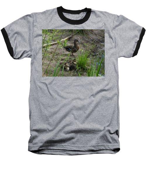 Guarding The Ducklings Baseball T-Shirt by Donald C Morgan