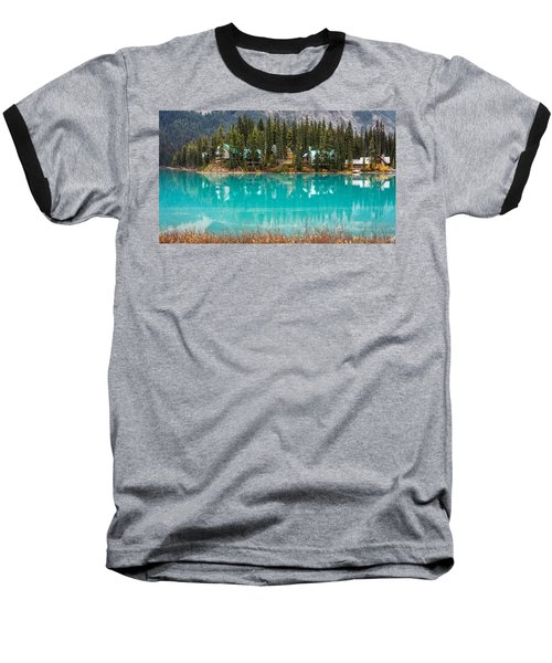 Baseball T-Shirt featuring the photograph Emerald Lake by Pierre Leclerc Photography