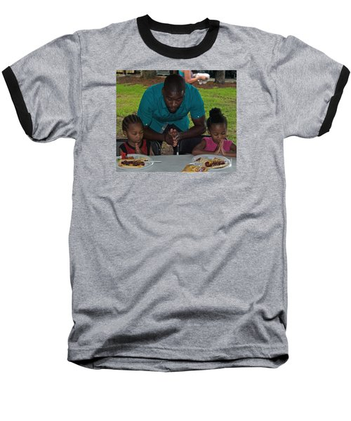 Guest Family Praying Baseball T-Shirt