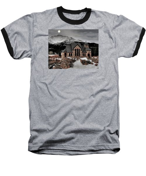 Baseball T-Shirt featuring the photograph Guiding Light Over Saint Malo by Stephen  Johnson
