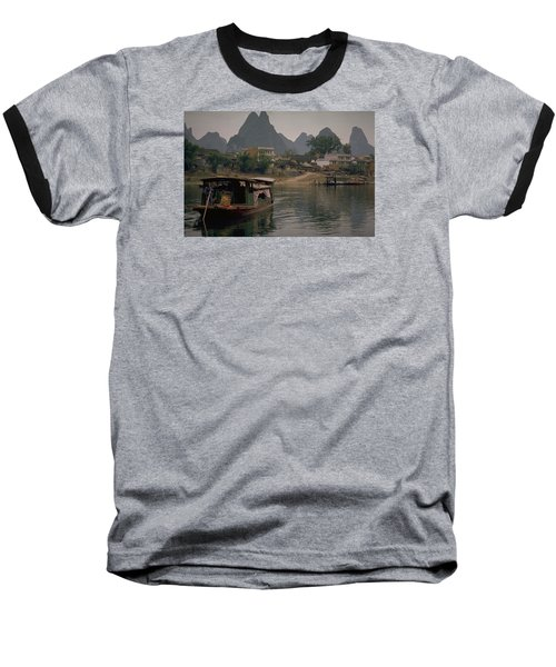 Guilin Limestone Peaks Baseball T-Shirt by Travel Pics
