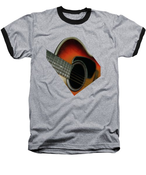 Baseball T-Shirt featuring the photograph  Guitar  Acoustic Close Up by Bruce Stanfield
