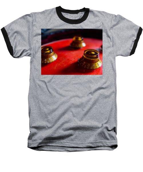 Baseball T-Shirt featuring the digital art Guitar Controls Series by Guitar Wacky