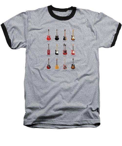 Guitar Icons No1 Baseball T-Shirt by Mark Rogan