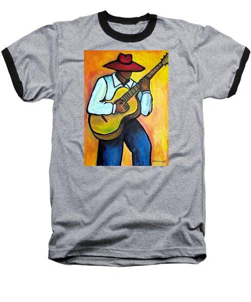Baseball T-Shirt featuring the painting Guitar Man by Diane Britton Dunham