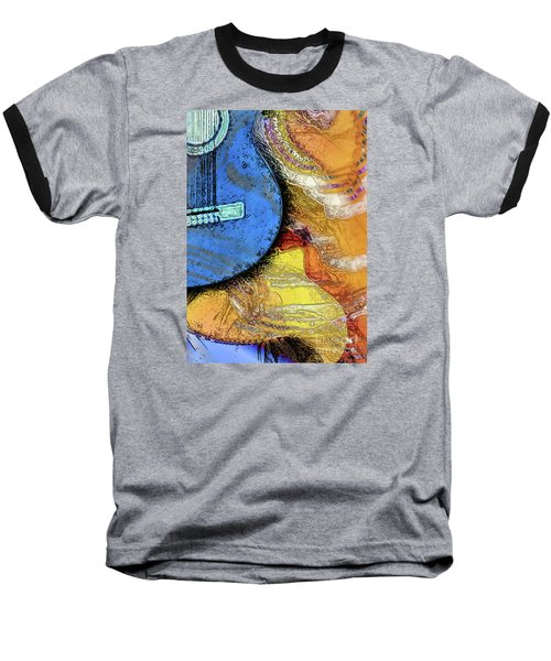 Guitar Music Baseball T-Shirt by Allison Ashton