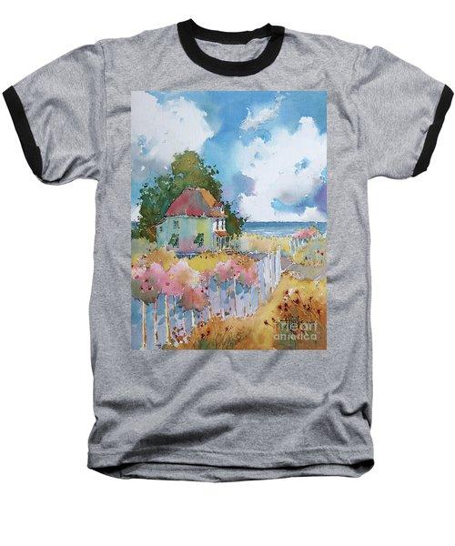 Gulf Coast Cottage Baseball T-Shirt