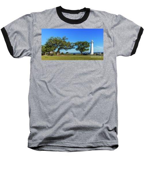 Gulf Coast Lighthouse Seascape Biloxi Ms 3663b Baseball T-Shirt