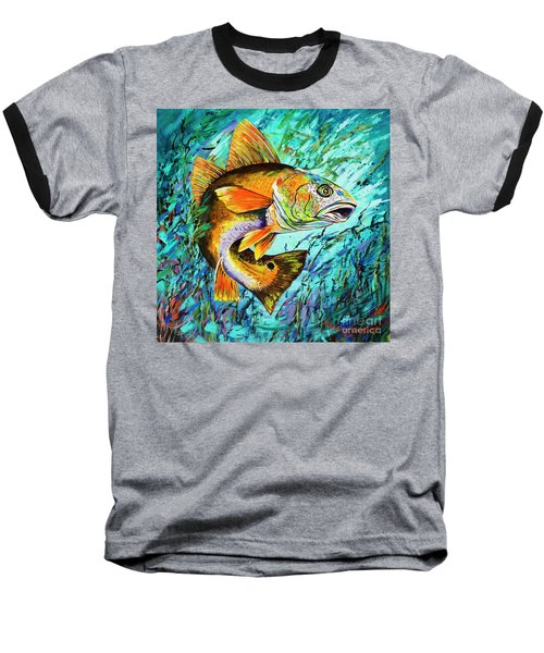 Baseball T-Shirt featuring the painting Gulf Coast Red by Dianne Parks