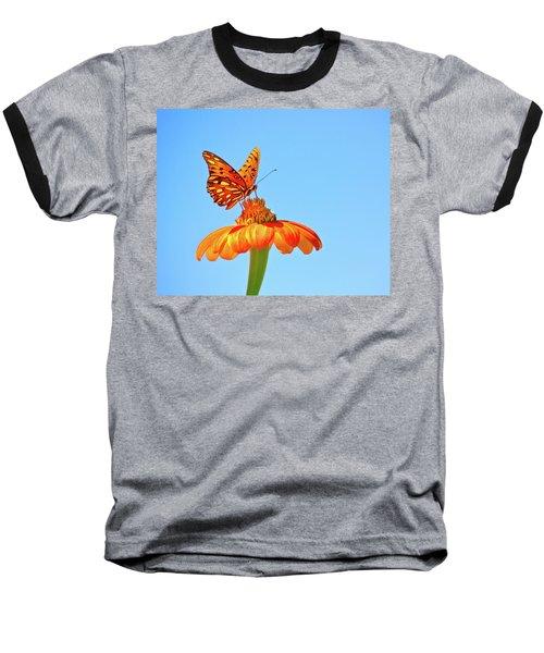 Gulf Fritillary Landing Baseball T-Shirt