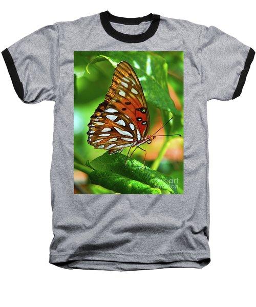 Gulf Fritillary Baseball T-Shirt