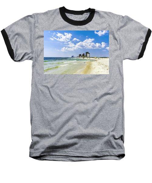 Gulf Shores Al Beach Seascape 1746a Baseball T-Shirt