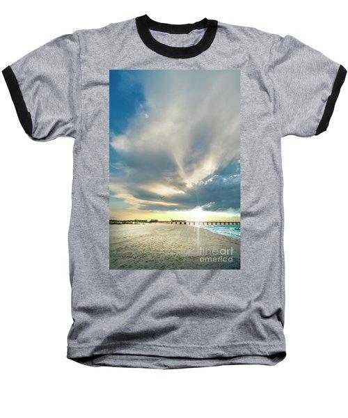 Gulf Shores Al Pier Seascape Sunrise 152a Baseball T-Shirt