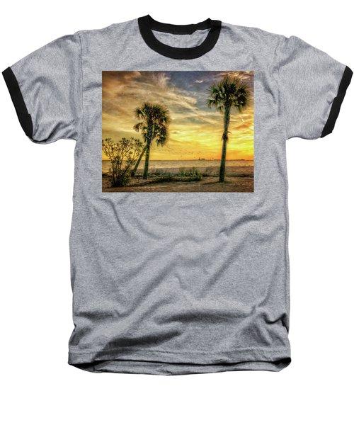 Gulfport Sunset Baseball T-Shirt