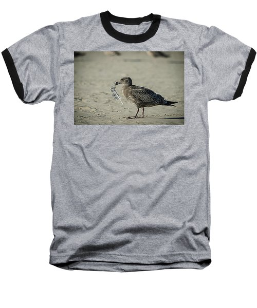 Gull And Feather Baseball T-Shirt