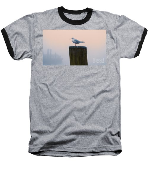Gull And Fog Baseball T-Shirt