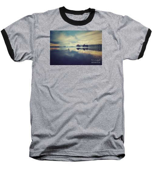 Gull At Huntington Beach Pier Baseball T-Shirt