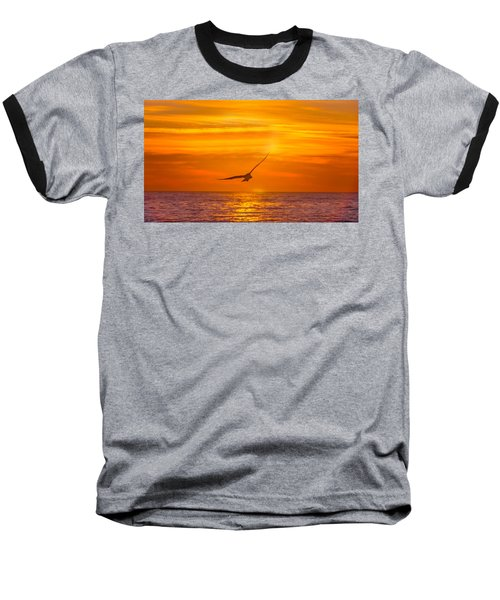 Gull At Sunrise Baseball T-Shirt