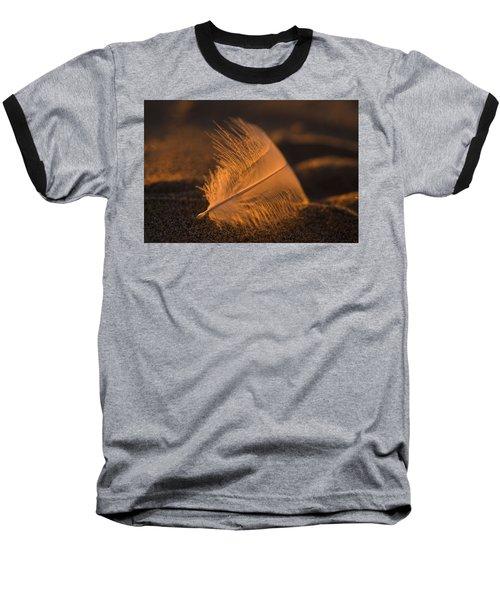 Gull Feather At Sunset Baseball T-Shirt