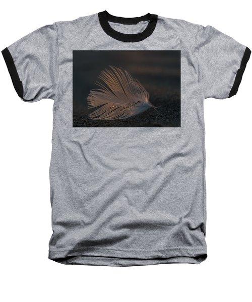 Gull Feather On A Beach Baseball T-Shirt