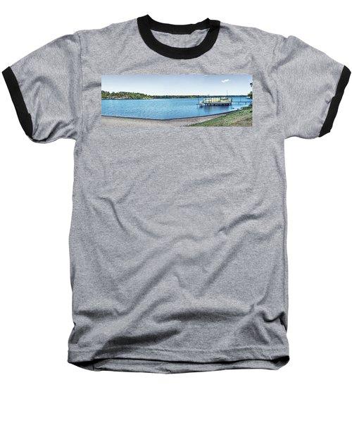Gull Lake Panorama Baseball T-Shirt