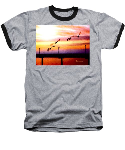 Baseball T-Shirt featuring the photograph Gull Play by Sadie Reneau