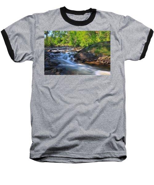 Gull River Falls - Gunflint Trail Minnesota Baseball T-Shirt