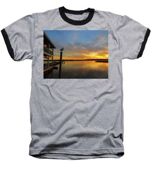 Gull Sunset Baseball T-Shirt