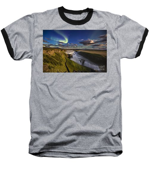 Gullfoss Iceland Baseball T-Shirt