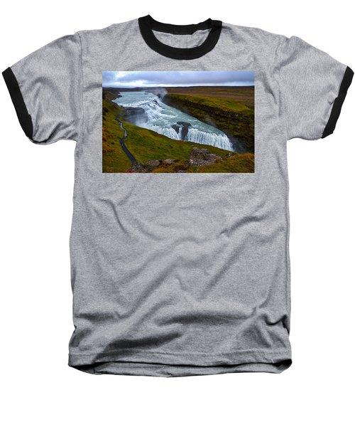 Gullfoss Waterfall #2 - Iceland Baseball T-Shirt