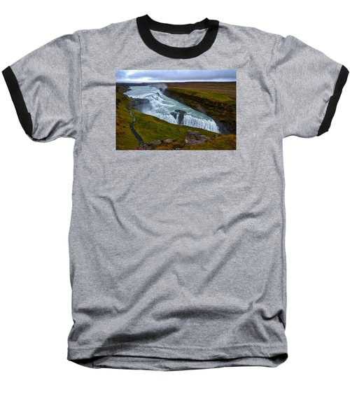 Gullfoss Waterfall #2 - Iceland Baseball T-Shirt