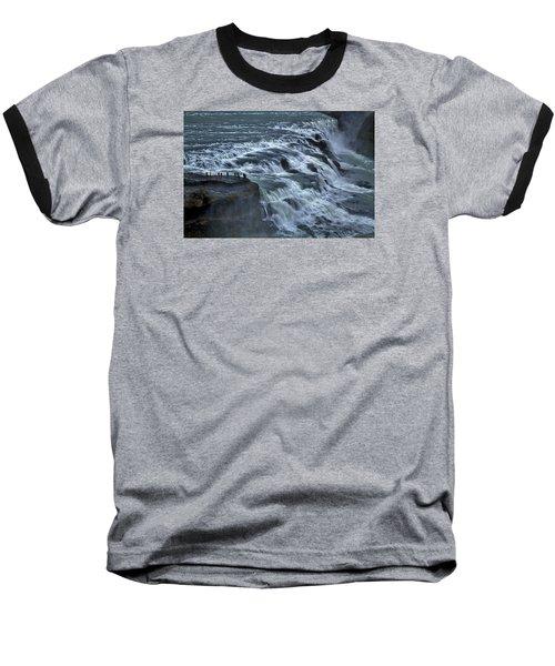 Gullfoss Waterfall #6 - Iceland Baseball T-Shirt